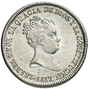 4 Reales - Isabel II (CONSTITUCION) – obverse