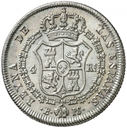 4 Reales - Isabel II (CONSTITUCION) – reverse