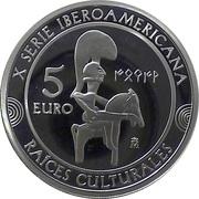 5 Euro - Felipe VI (Guerrero de Moixent) -  reverse
