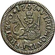 1 Maravedi - Fernando VI (Segovia) – reverse