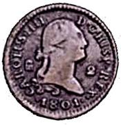 2 Maravedis - Carlos IV – obverse