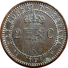 2 Centimos - Alfonso XIII (4th portrait) – reverse