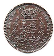5 Centimos de Real - Isabel II – reverse