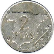 2 Pesetas - Juan Carlos I -  reverse