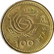 100 Pesetas - Juan Carlos I (Year of Older Persons) -  reverse