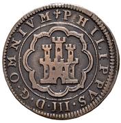 4 Maravedis - Felipe III (Segovia, milled) – obverse
