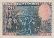 50 Pesetas (Velázquez) – reverse