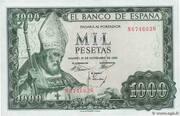 1,000 Pesetas – obverse