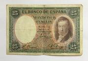 25 Pesetas (Vicente Lopez) – obverse
