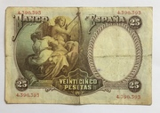 25 Pesetas (Vicente Lopez) – reverse