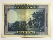 100 Pesetas (Cervantes) – reverse