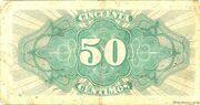 50 Centimos – reverse