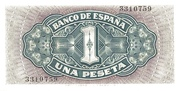 1 Peseta – reverse