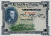 100 Pesetas (Felipe II) – obverse