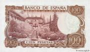 100 Pesetas -  reverse