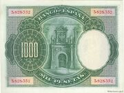 1000 Pesetas (Carl I rex) – reverse