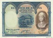 500 Pesetas (Isabel la Catolica) – obverse