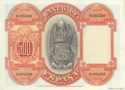 500 Pesetas (Isabel la Catolica) – reverse