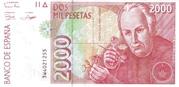 2,000 Pesetas – obverse
