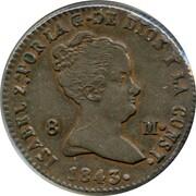 8 Maravedis - Isabel II (Constitutional) – obverse