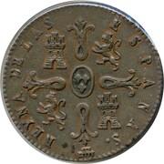8 Maravedis - Isabel II (Constitutional) – reverse