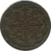8 Maravedis - Fernando VII (2nd portrait) – reverse