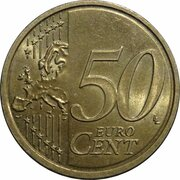 50 Euro Cent (2nd type; 2nd map) -  reverse