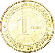 1 Euro - Casinos de Catalunya – reverse