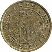 50 Pesetas - Tenerife Gaming Casinos – obverse
