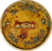 "5 Pesetas (""Las Planas d'Hostoles"" Cooperative Union Token; countermarked ""U"") – obverse"
