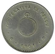 1 Peseta - Cooperativa El Reloj – obverse