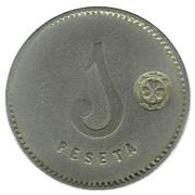 1 Peseta - Cooperativa El Reloj – reverse
