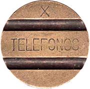 Telephone Token - Telefonos (3 grooves; X) – obverse