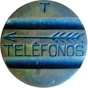 Telephone Token - Telefonos (3 grooves; T simple side) – obverse