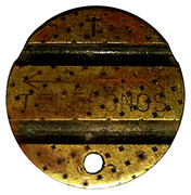 Telephone Token - CTNE (3 grooves; T with diamond background) – obverse
