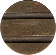Telephone Token - CTNE (2 grooves in obverse; H down on the reverse) – obverse