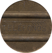 Telephone Token - CTNE (3 grooves; T double side) – obverse