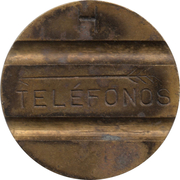 Telephone Token - CTNE (2 grooves in obverse; letter up on the reverse) – obverse