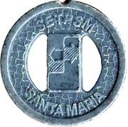 Transport Token - SETPSM Santa Maria (with two holes) – obverse