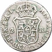 2 Reales - Jose I Bonaparte – reverse