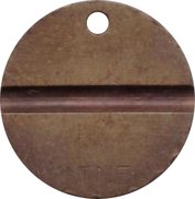 Telephone Token - CTNE (3 grooves; T with diamond background on 1 side) – reverse