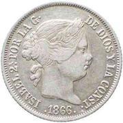 40 Centimos de Escudo - Isabel II – obverse