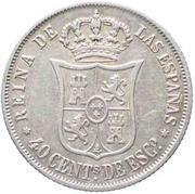 40 Centimos de Escudo - Isabel II – reverse