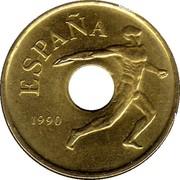 25 Pesetas (discus throw) -  obverse