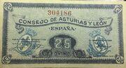 25 Céntimos (Consejo de Asturias y León) – obverse