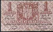 1 Peseta Ajuntament de Barcelona – reverse