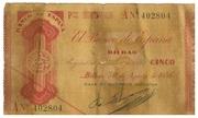 5 Pesetas (Banco de Espana - Bilbao) – obverse