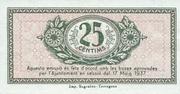 25 Cèntims (Tarragona) – reverse