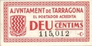 10 Cèntims (Tarragona) – obverse