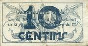 10 Cèntims (Valls) – reverse